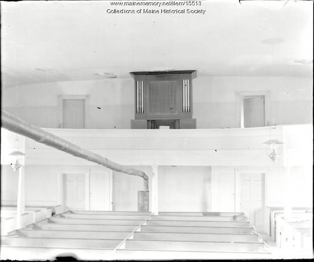 Organ, Bradley Meeting House, Portland, ca. 1900