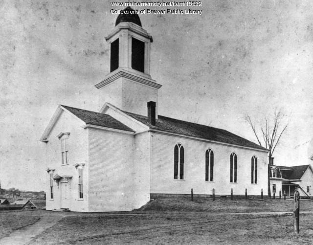 First Congregational Church, Brewer, ca. 1885