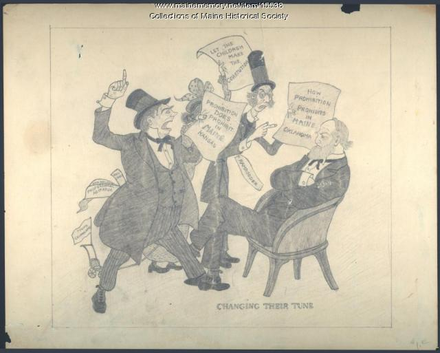 Prohibition cartoon, ca. 1851