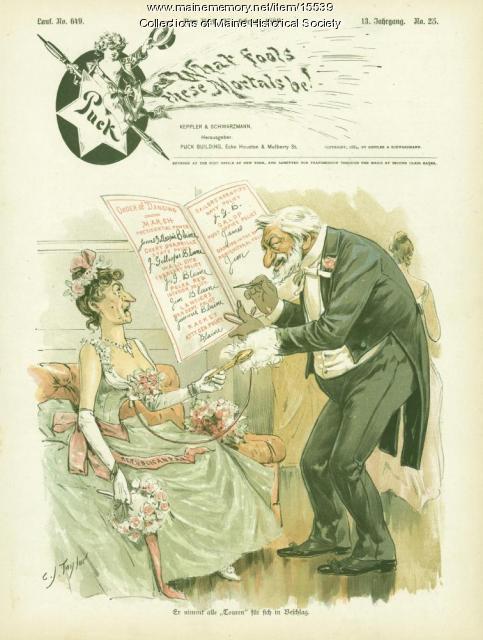Puck cartoon, 1889