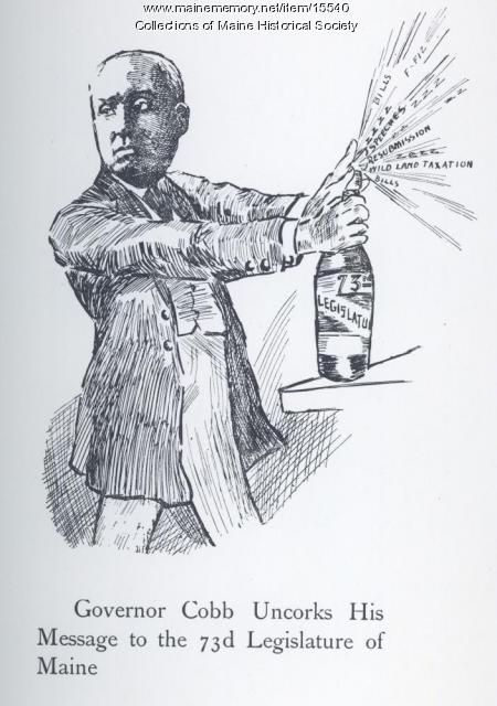 Governor Cobb Uncorks His Message, 1907