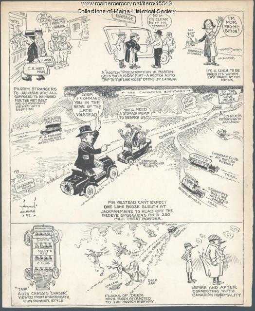 Prohibition cartoon, ca. 1925