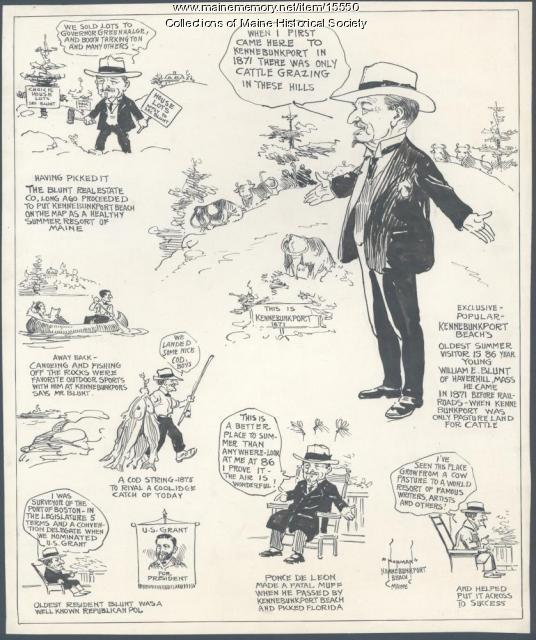 Cartoonist's view of Kennebunkport, ca. 1925