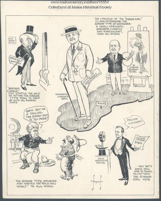Cartoon of 1924 presidential campaign
