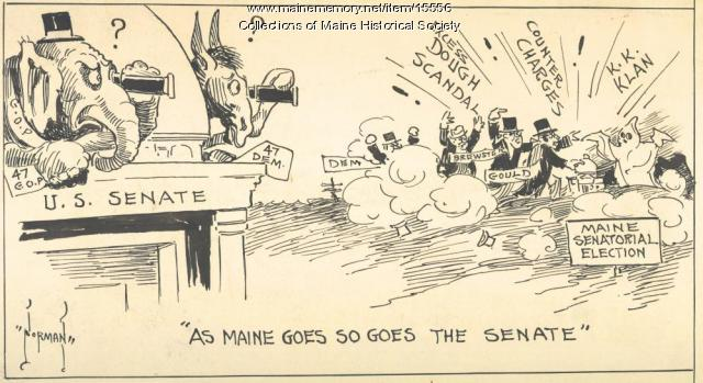 Cartoon about 1926 politics