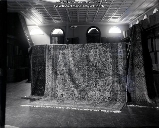Valuable carpet, Portland, ca. 1900