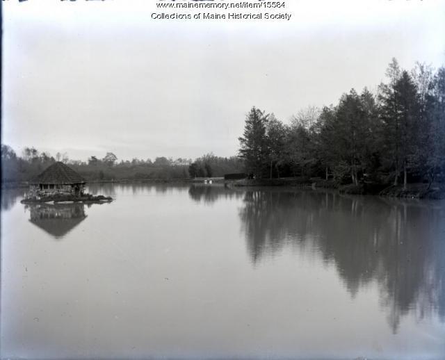 Pond, Evergreen Cemetery, Portland, 1901