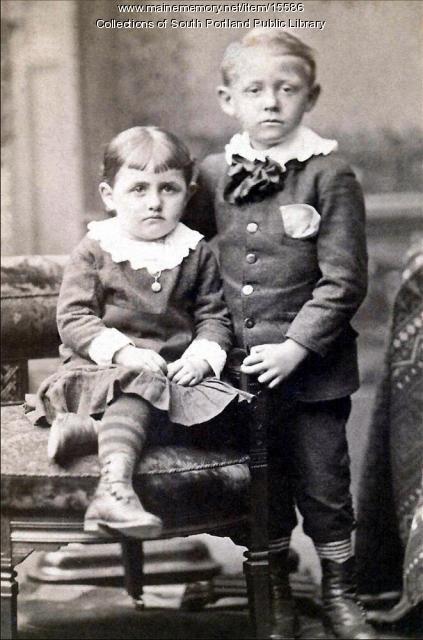 Addie Elmira Kaler and Harry F. Kaler, ca. 1885
