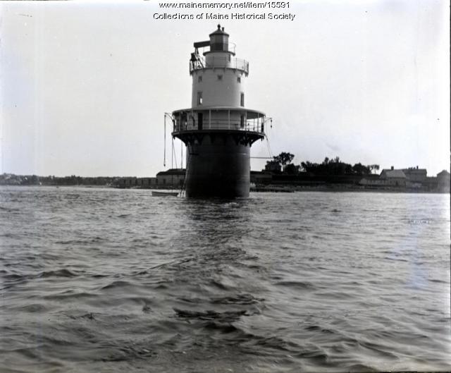 Spring Point Light, Portland Harbor, ca. 1900