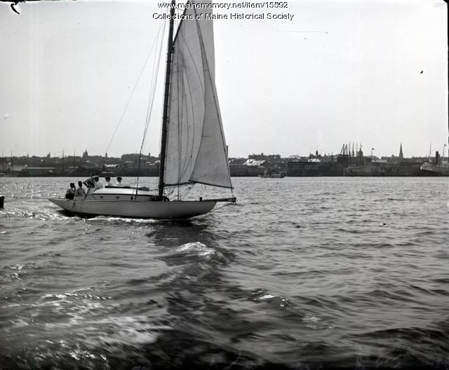 Off for the Afternoon Yachting, Portland, 1904
