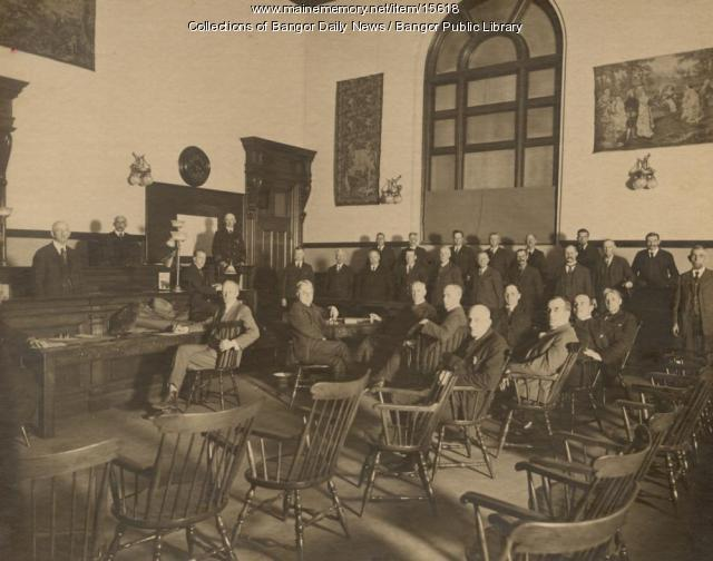 Penobscot County jury, Bangor, early 1900s