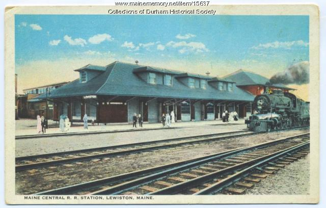 Maine Central Railroad Station, Lewiston, ca. 1900