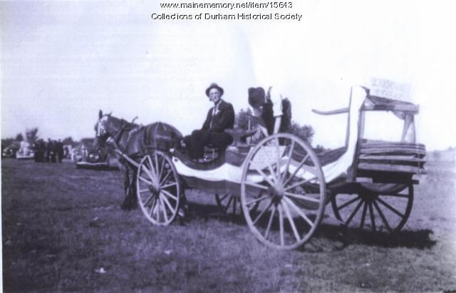 John Hamlin's parade wagon, Durham, July 4, 1938
