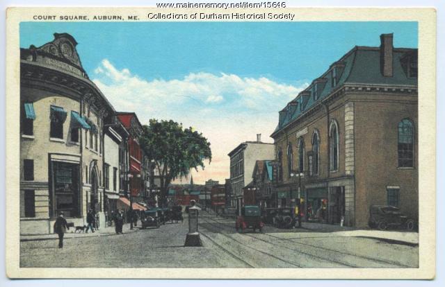 Court Square, Auburn, ca. 1925