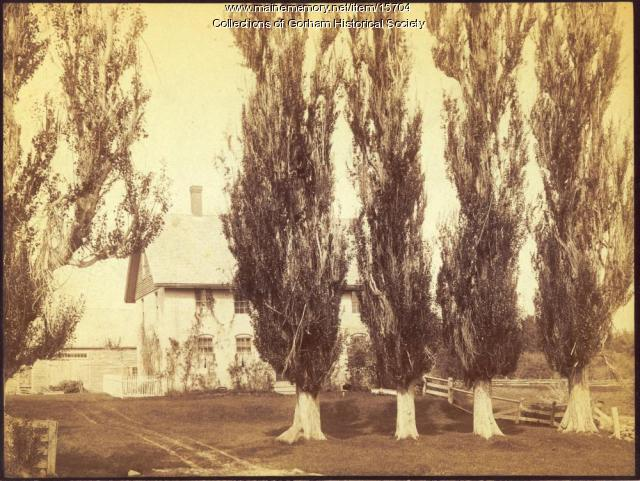 McLellan House in Gorham ca. 1886