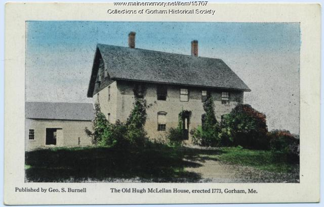 Postcard of McLellan House in Gorham