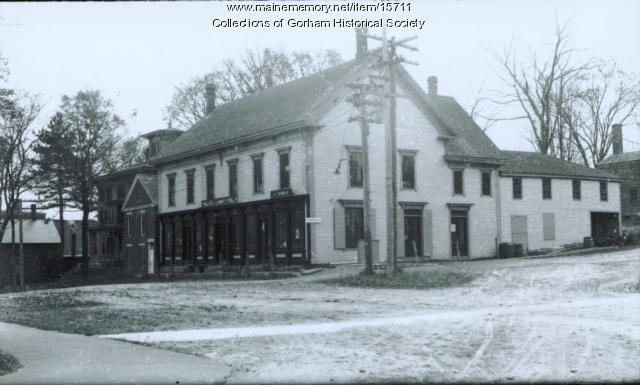 Bert Libby's and Ridlon's Store, School Street, Gorham