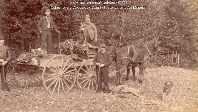 Hunting Party in the Aroostook Woods, ca. 1895