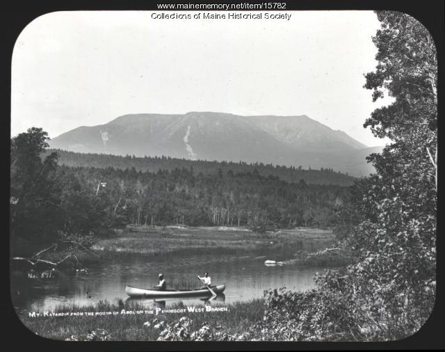 Katahdin from the mouth of Abol, ca. 1900