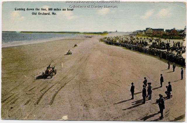 Auto racing, Old Orchard Beach, ca. 1912