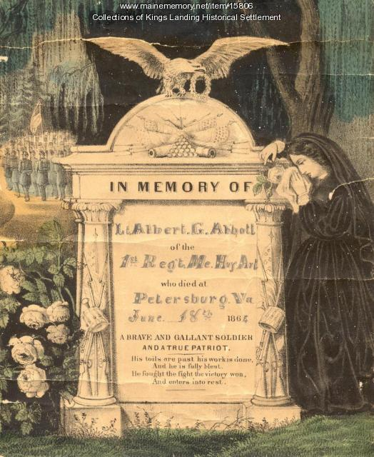 Memorial Print for Lt. Albert G. Abbott, 1864