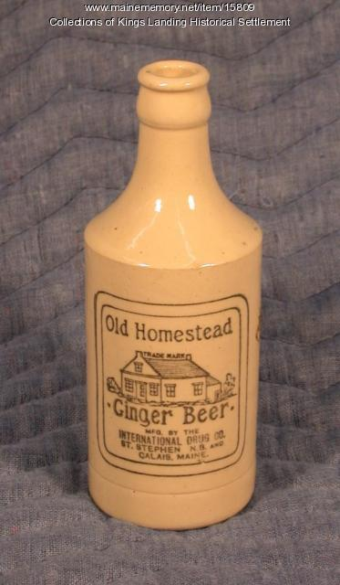 Old Homestead Ginger Beer, Saint Stephen and Calais, c. 1900