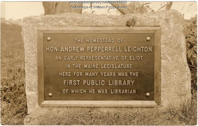 Leighton Plaque, Eliot, 1910