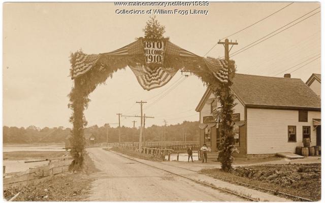 Spinney Creek Bridge, Eliot,1910