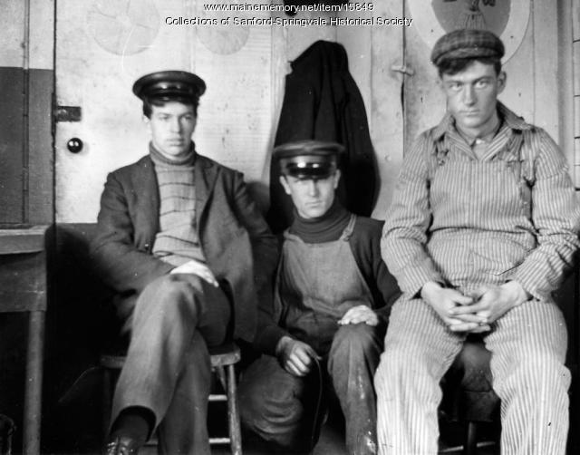 Three Goodall Mills Workers Posing