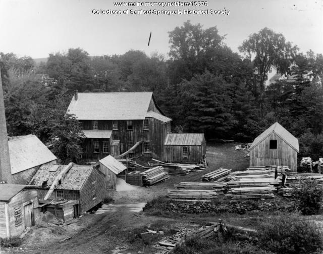 Planing and Shingle Mill, Springvale, ca. 1905