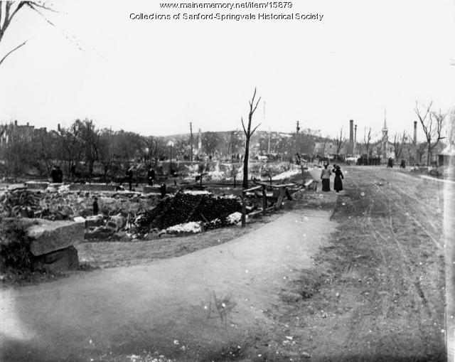 Springvale After the Great Fire, April 14, 1905