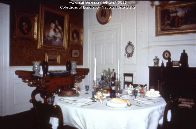 The dining room at the Vassall-Craigie-Longfellow House