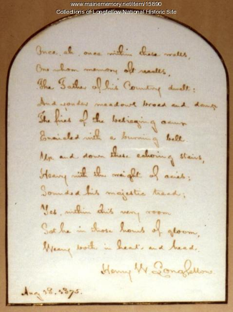 Stanza 6 of Longfellow's poem