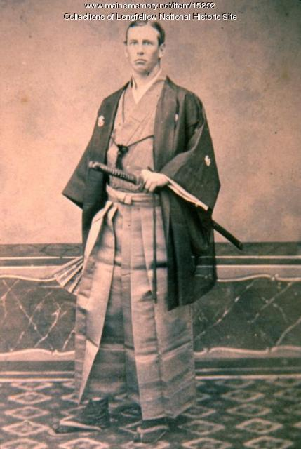 Charles Appleton Longfellow in formal Japanese attire.