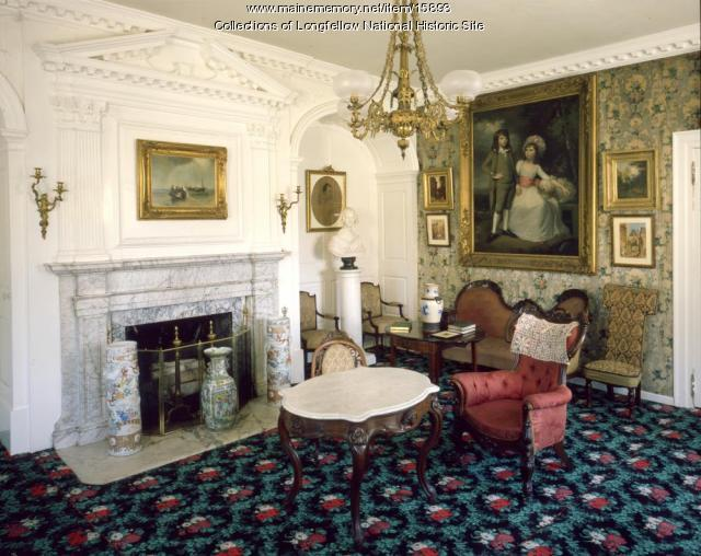 The parlor at the Vassall-Craigie-Longfellow house