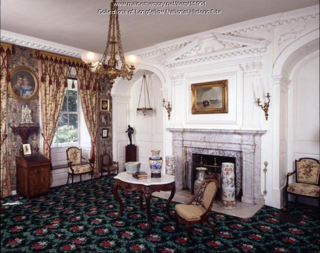 The parlor at the Vassall-Craigie-Longfellow House, Cambridge Massachusetts