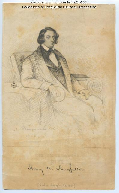 Print of Henry W. Longfellow from Graham's Magazine, May 1843
