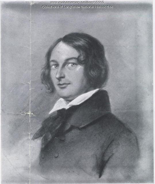 Print of 1839 portrait of Henry Wadsworth Longfellow