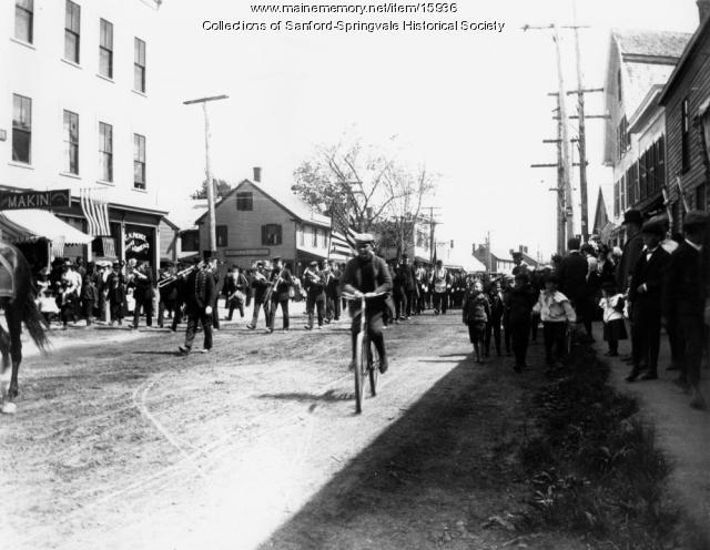 Parade at Springvale Square, ca. 1900