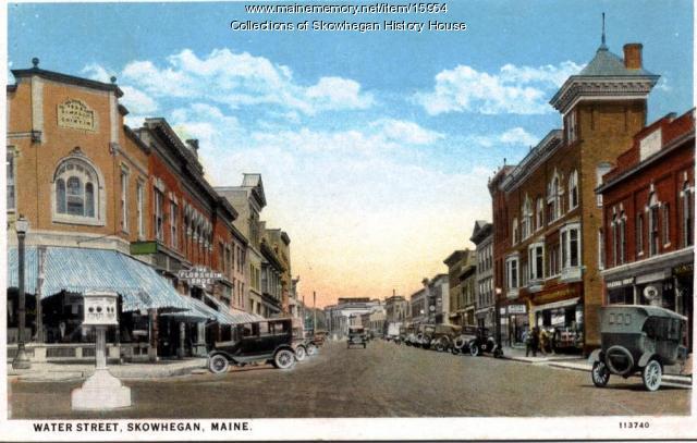 Water Street, Skowhegan ca. 1923