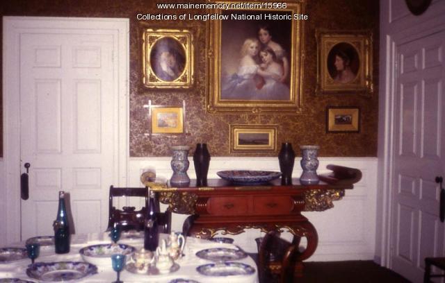 Dining Room, Vassall-Craigie-Longfellow House, Cambridge, ca. 1910