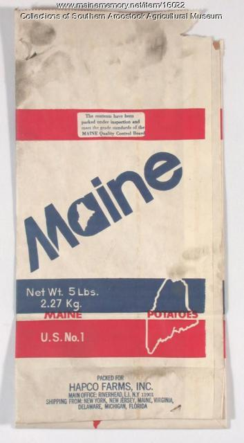 Maine potato bag, c. 1960