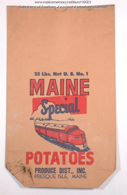 Maine Special potato bag, Presque Isle, c. 1950