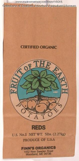 Fruit of the Earth potato bag, Woodland, 1990
