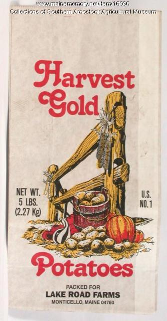 Harvest Gold potato bag, Monticello, 1975