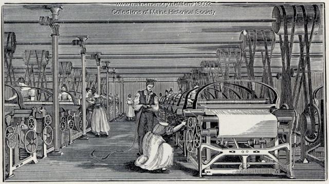 Power Loom Weaving Early in the Century