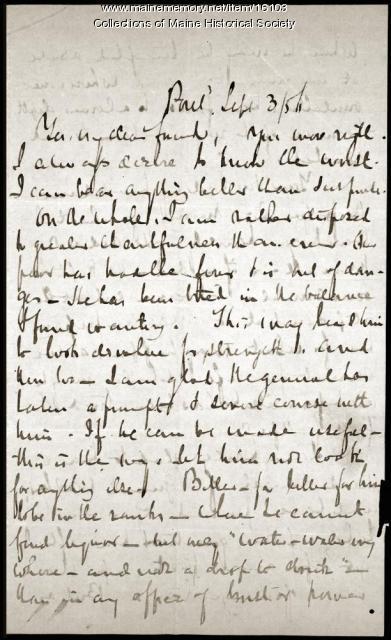 John Neal letter to Elizabeth Oakes Smith, 1856