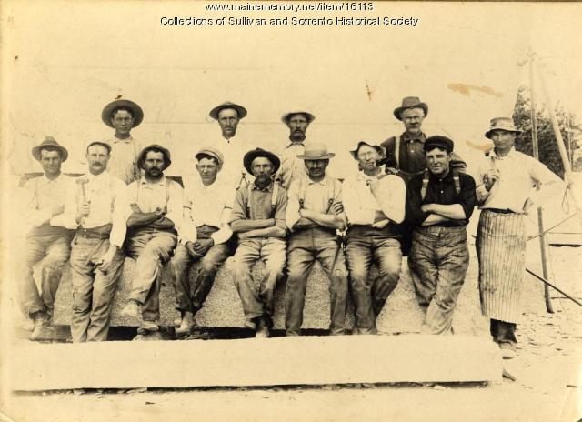 Quarry workers in Sullivan/Sorrento, ca. 1920