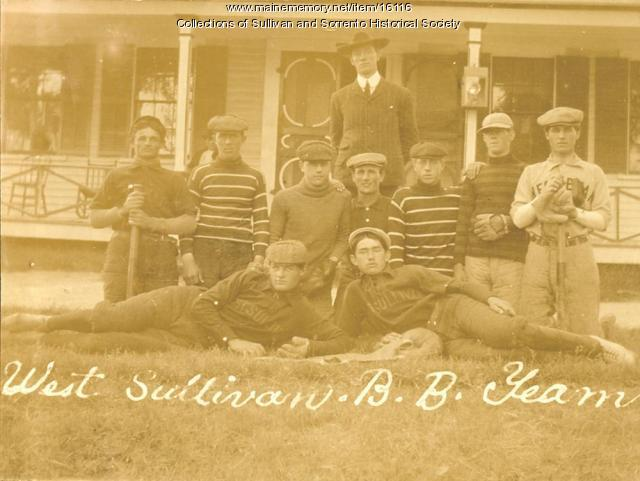 West Sullivan baseball team, ca. 1920