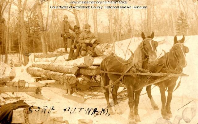 Delmont Emerson woods crew, Island Falls, ca. 1910